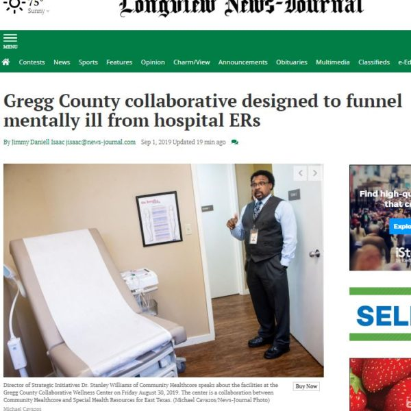 In The News: PCCI collaborates with mental health services coalition in Gregg County, Texas