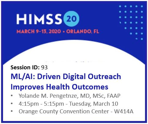 PCCI at HIMSS20: Yolande M. Pengetnze, MD