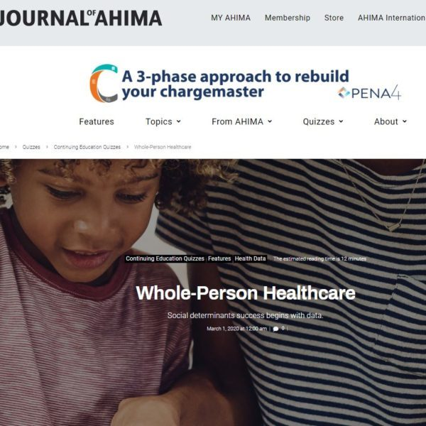 In the News: PCCI featured in Journal of AHIMA on SDOH