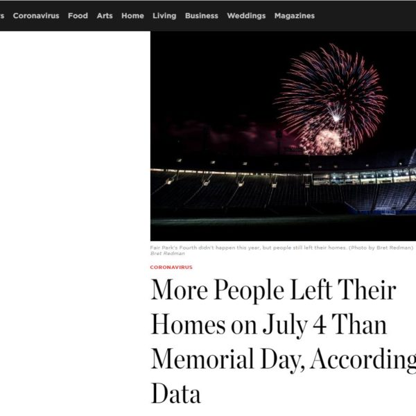 In the news: D Magazine features PCCI's data showing more people going out of their homes on July 4