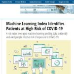 In The News: HealthIT Analytics - Machine Learning Index Identifies Patients at High Risk of COVID-19