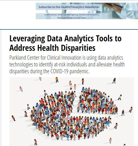 In The News: HealthIT Analytics on how PCCI Leverages Data Analytics Tools to Address Health Disparities
